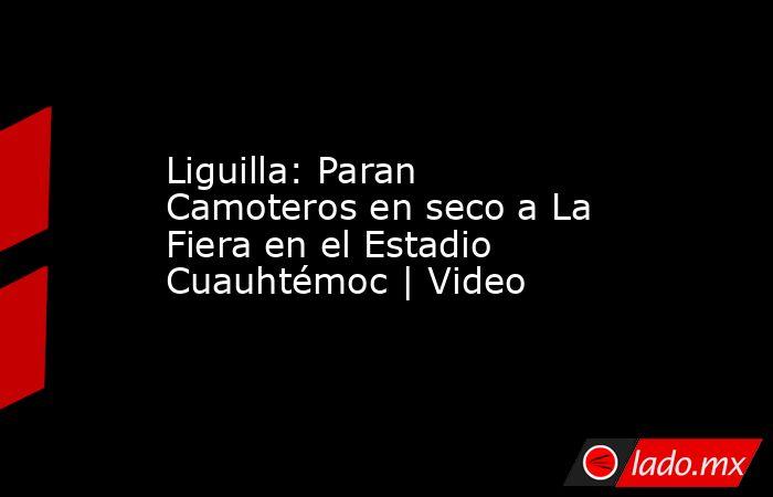 Liguilla: Paran Camoteros en seco a La Fiera en el Estadio Cuauhtémoc   Video. Noticias en tiempo real