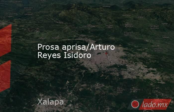 Prosa aprisa/Arturo Reyes Isidoro. Noticias en tiempo real