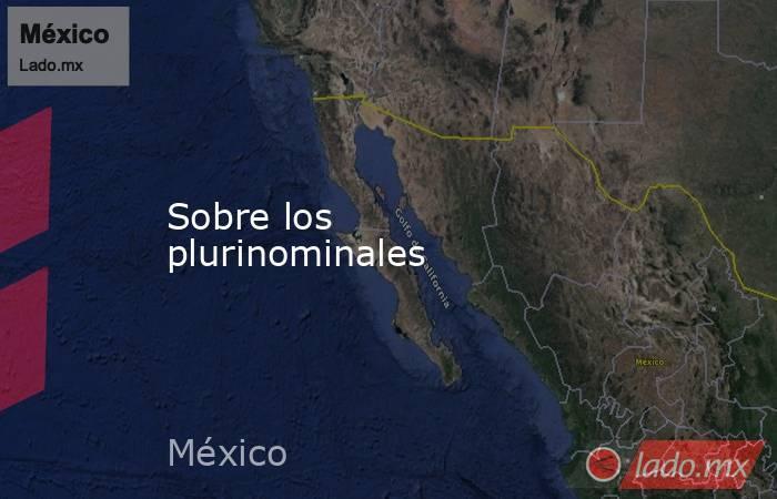 Sobre los plurinominales. Noticias en tiempo real