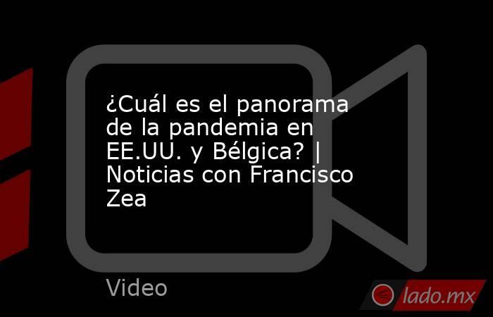 ¿Cuál es el panorama de la pandemia en EE.UU. y Bélgica? | Noticias con Francisco Zea. Noticias en tiempo real