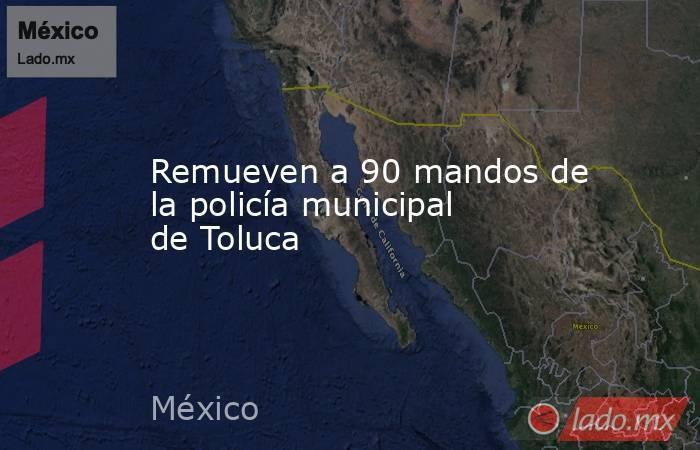 Remueven a 90 mandos de la policía municipal de Toluca. Noticias en tiempo real