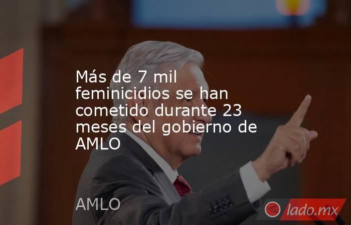 Más de 7 mil feminicidios se han cometido durante 23 meses del gobierno de AMLO. Noticias en tiempo real