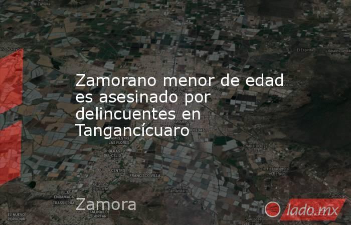 Zamorano menor de edad es asesinado por delincuentes en Tangancícuaro. Noticias en tiempo real
