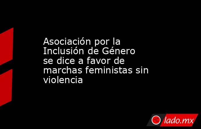 Asociación por la Inclusión de Género se dice a favor de marchas feministas sin violencia. Noticias en tiempo real