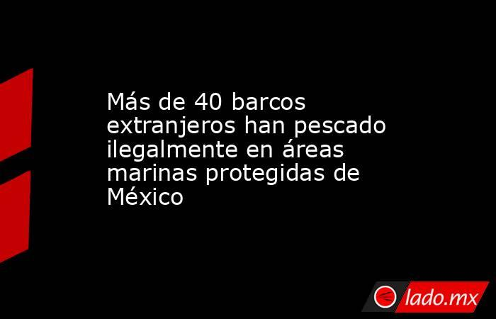 Más de 40 barcos extranjeros han pescado ilegalmente en áreas marinas protegidas de México. Noticias en tiempo real