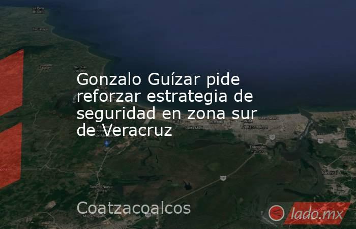 Gonzalo Guízar pide reforzar estrategia de seguridad en zona sur de Veracruz. Noticias en tiempo real