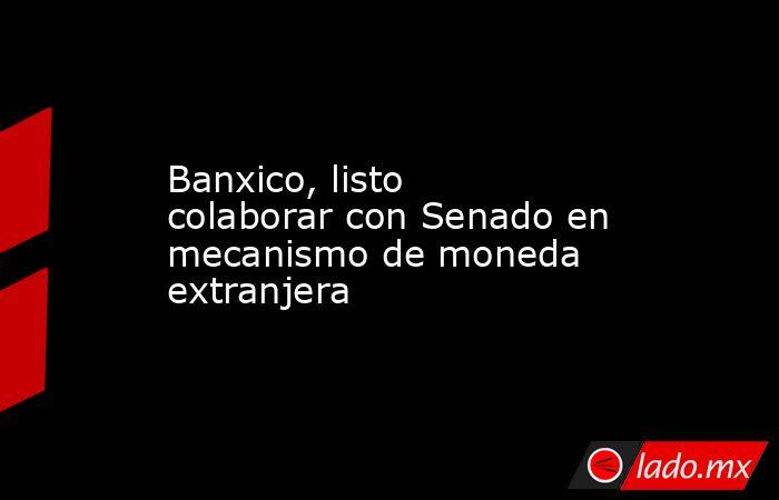 Banxico, listo colaborar con Senado en mecanismo de moneda extranjera. Noticias en tiempo real