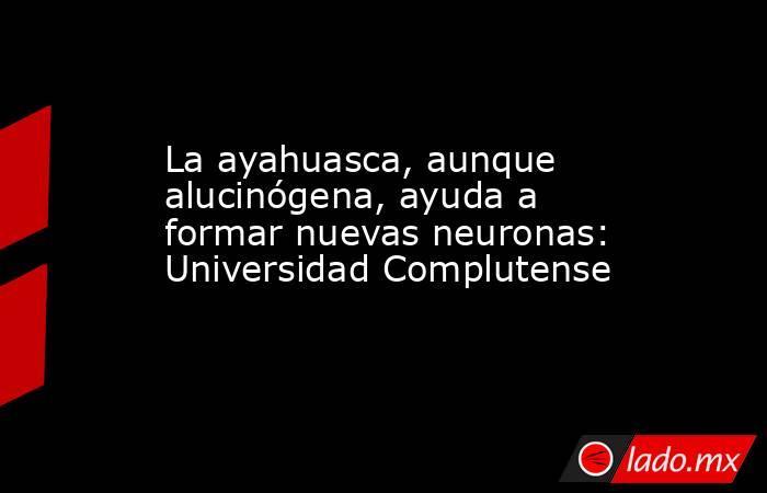 La ayahuasca, aunque alucinógena, ayuda a formar nuevas neuronas: Universidad Complutense. Noticias en tiempo real