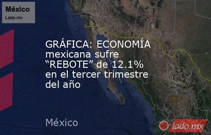 """GRÁFICA: ECONOMÍA mexicana sufre """"REBOTE"""" de 12.1% en el tercer trimestre del año. Noticias en tiempo real"""
