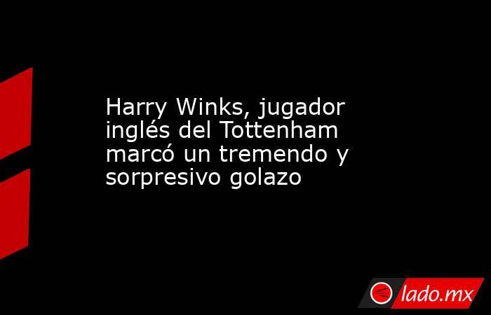 Harry Winks, jugador inglés del Tottenham marcó un tremendo y sorpresivo golazo. Noticias en tiempo real