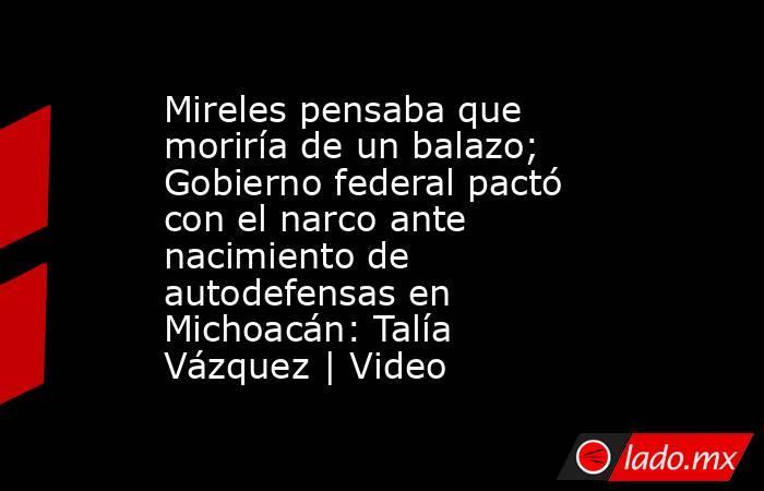 Mireles pensaba que moriría de un balazo; Gobierno federal pactó con el narco ante nacimiento de autodefensas en Michoacán: Talía Vázquez | Video. Noticias en tiempo real