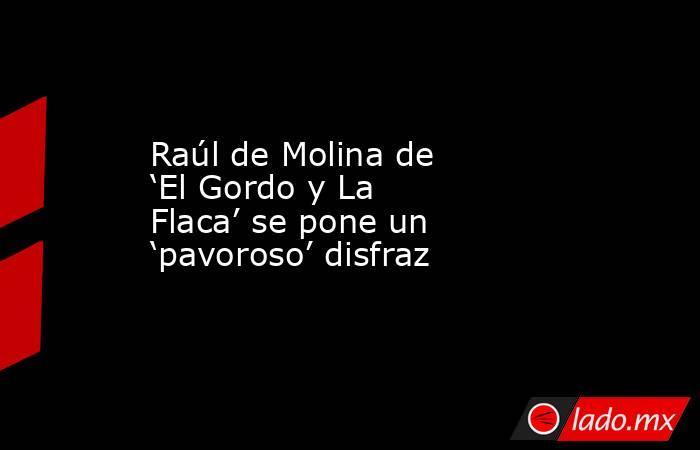 Raúl de Molina de 'El Gordo y La Flaca' se pone un 'pavoroso' disfraz. Noticias en tiempo real