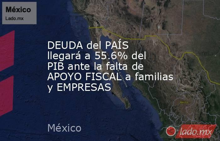 DEUDA del PAÍS llegará a 55.6% del PIB ante la falta de APOYO FISCAL a familias y EMPRESAS. Noticias en tiempo real