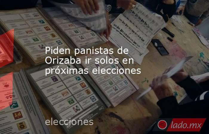Piden panistas de Orizaba ir solos en próximas elecciones. Noticias en tiempo real