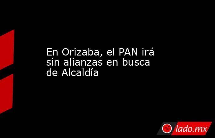 En Orizaba, el PAN irá sin alianzas en busca de Alcaldía. Noticias en tiempo real