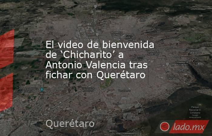 El video de bienvenida de 'Chicharito' a Antonio Valencia tras fichar con Querétaro. Noticias en tiempo real