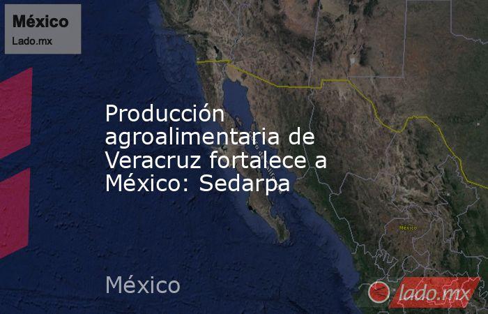 Producción agroalimentaria de Veracruz fortalece a México: Sedarpa. Noticias en tiempo real