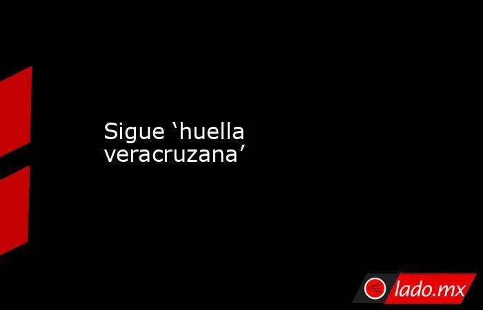 Sigue 'huella veracruzana'. Noticias en tiempo real