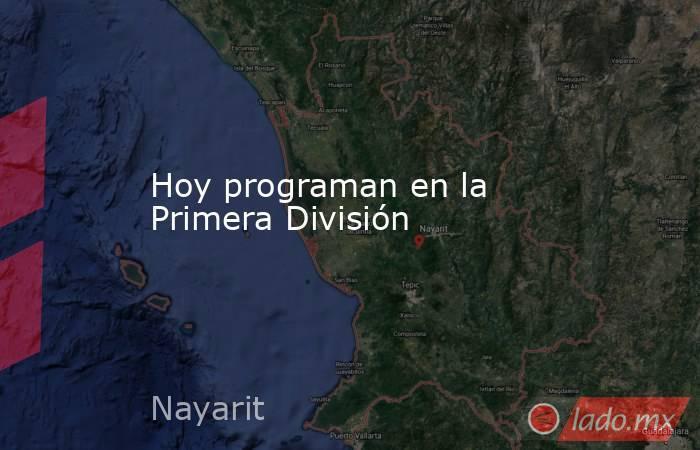 Hoy programan en la Primera División. Noticias en tiempo real