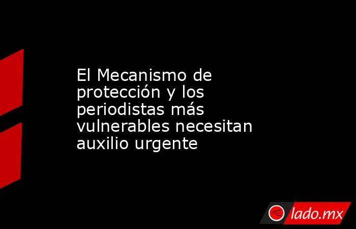 El Mecanismo de protección y los periodistas más vulnerables necesitan auxilio urgente. Noticias en tiempo real