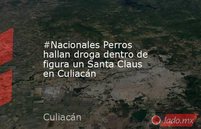 #Nacionales Perros hallan droga dentro de figura un Santa Claus en Culiacán. Noticias en tiempo real