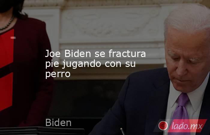 Joe Biden se fractura pie jugando con su perro. Noticias en tiempo real