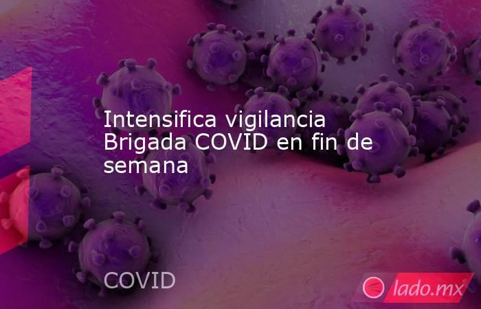 Intensifica vigilancia Brigada COVID en fin de semana. Noticias en tiempo real