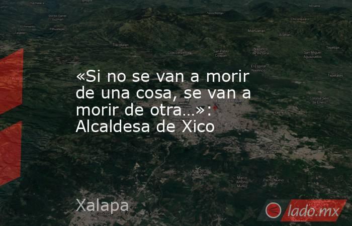 «Si no se van a morir de una cosa, se van a morir de otra…»: Alcaldesa de Xico. Noticias en tiempo real