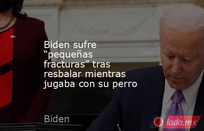"""Biden sufre """"pequeñas fracturas"""" tras resbalar mientras jugaba con su perro. Noticias en tiempo real"""