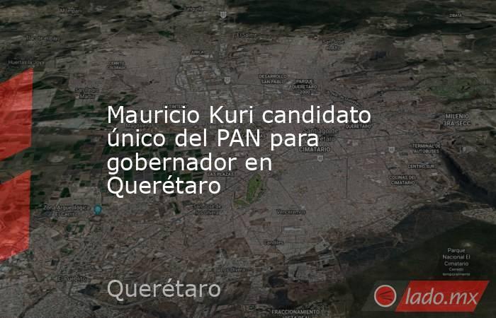 Mauricio Kuri candidato único del PAN para gobernador en Querétaro. Noticias en tiempo real