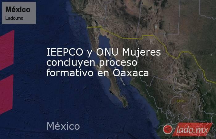 IEEPCO y ONU Mujeres concluyen proceso formativo en Oaxaca. Noticias en tiempo real