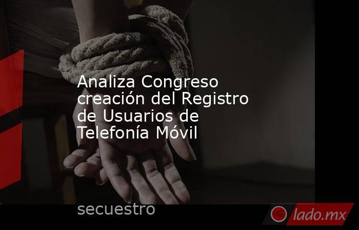Analiza Congreso creación del Registro de Usuarios de Telefonía Móvil. Noticias en tiempo real