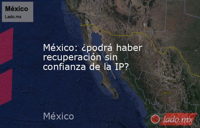 México: ¿podrá haber recuperación sin confianza de la IP?. Noticias en tiempo real