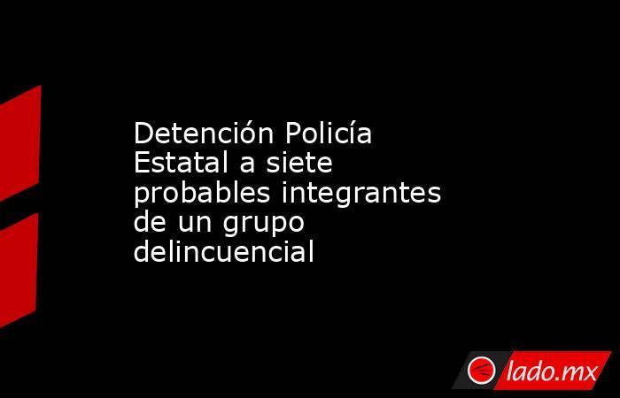 Detención Policía Estatal a siete probables integrantes de un grupo delincuencial. Noticias en tiempo real