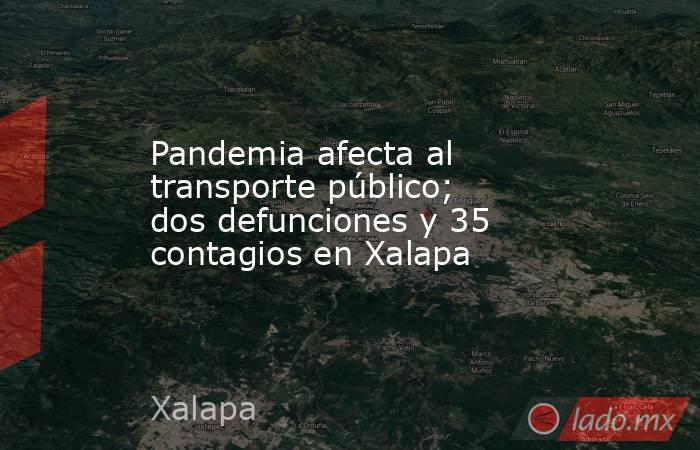 Pandemia afecta al transporte público; dos defunciones y 35 contagios en Xalapa. Noticias en tiempo real