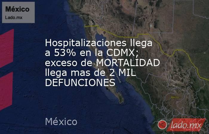 Hospitalizaciones llega a 53% en la CDMX; exceso de MORTALIDAD llega mas de 2 MIL DEFUNCIONES. Noticias en tiempo real