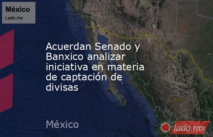 Acuerdan Senado y Banxico analizar iniciativa en materia de captación de divisas. Noticias en tiempo real