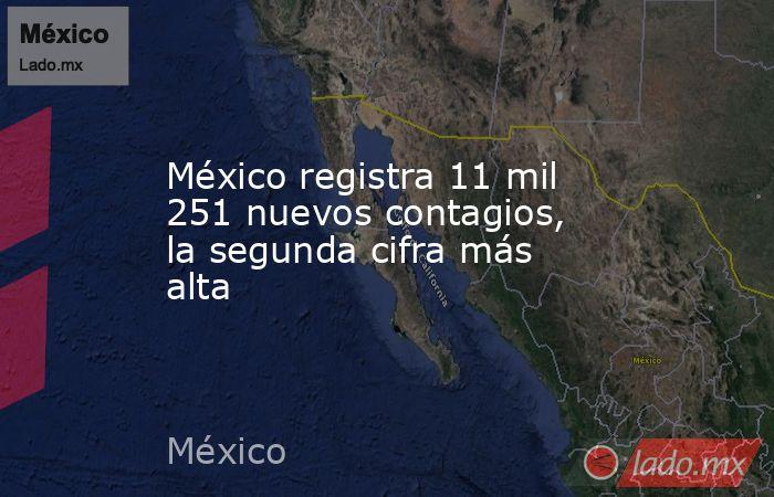 México registra 11 mil 251 nuevos contagios, la segunda cifra más alta. Noticias en tiempo real