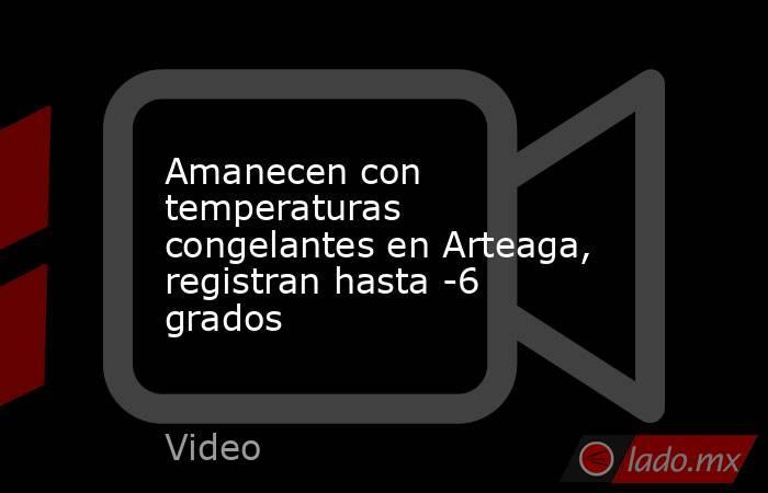 Amanecen con temperaturas congelantes en Arteaga, registran hasta -6 grados. Noticias en tiempo real
