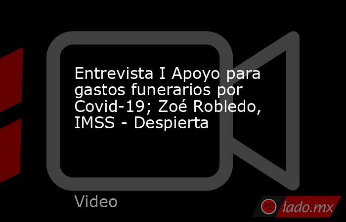 Entrevista I Apoyo para gastos funerarios por Covid-19; Zoé Robledo, IMSS - Despierta. Noticias en tiempo real
