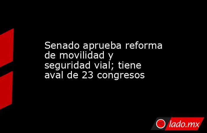 Senado aprueba reforma de movilidad y seguridad vial; tiene aval de 23 congresos. Noticias en tiempo real
