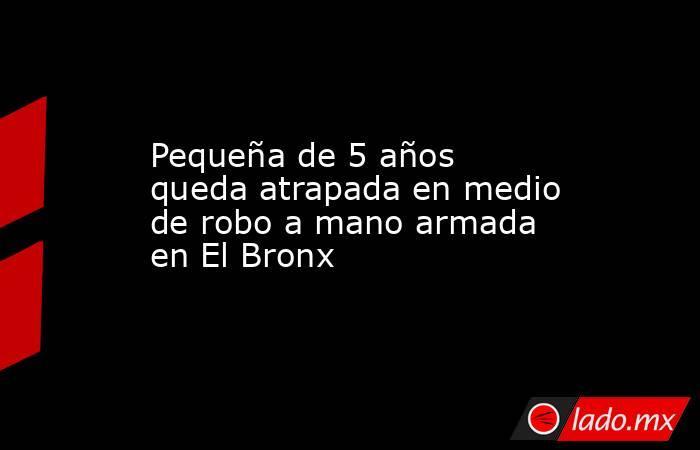 Pequeña de 5 años queda atrapada en medio de robo a mano armada en El Bronx. Noticias en tiempo real