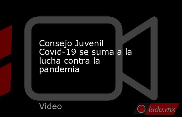 Consejo Juvenil Covid-19 se suma a la lucha contra la pandemia. Noticias en tiempo real