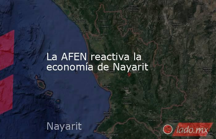 La AFEN reactiva la economía de Nayarit. Noticias en tiempo real