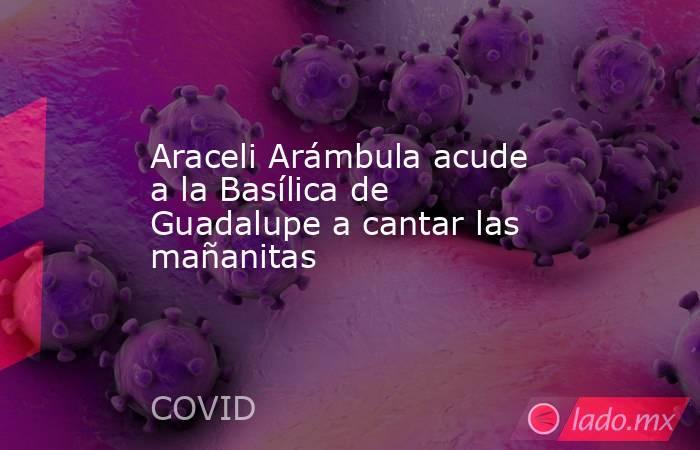 Araceli Arámbula acude a la Basílica de Guadalupe a cantar las mañanitas . Noticias en tiempo real