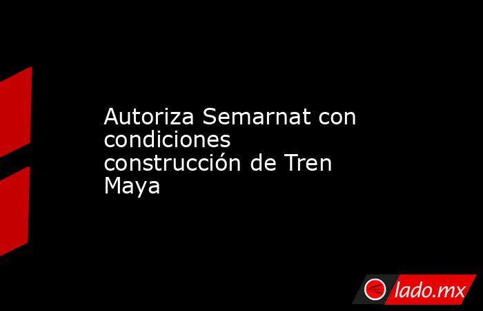 Autoriza Semarnat con condiciones construcción de Tren Maya. Noticias en tiempo real