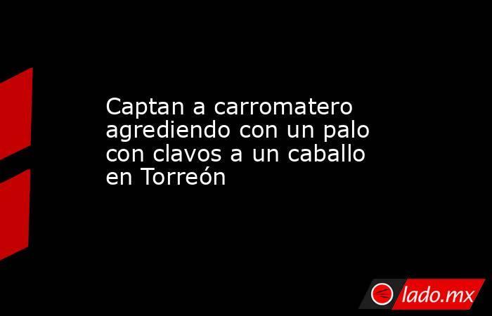 Captan a carromatero agrediendo con un palo con clavos a un caballo en Torreón . Noticias en tiempo real