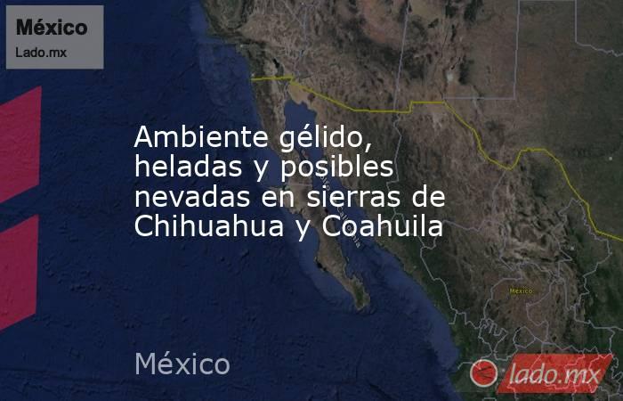 Ambiente gélido, heladas y posibles nevadas en sierras de Chihuahua y Coahuila. Noticias en tiempo real