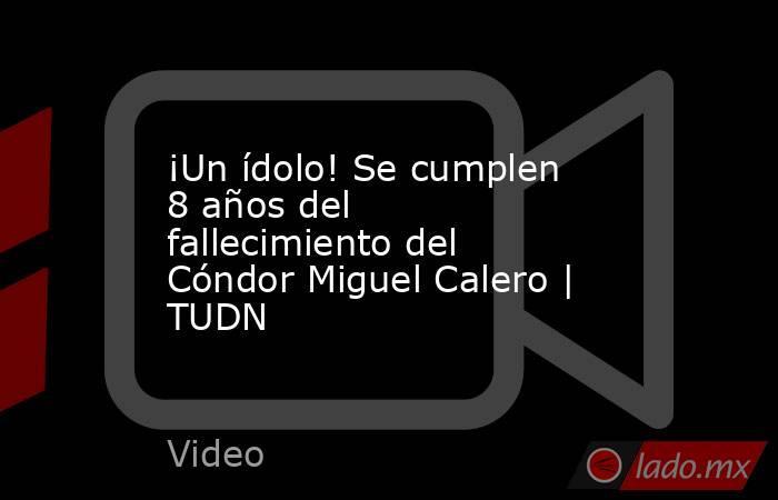 ¡Un ídolo! Se cumplen 8 años del fallecimiento del Cóndor Miguel Calero | TUDN. Noticias en tiempo real