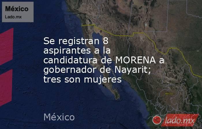 Se registran 8 aspirantes a la candidatura de MORENA a gobernador de Nayarit; tres son mujeres. Noticias en tiempo real